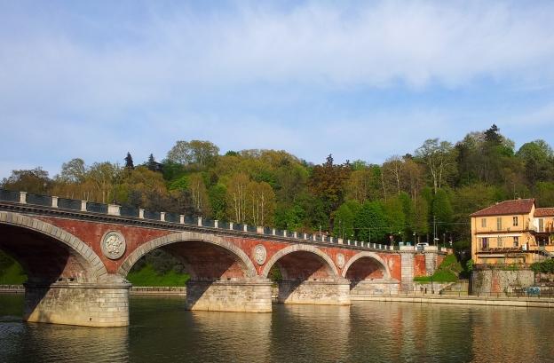 Bridge over the River Po, Turin, Italy