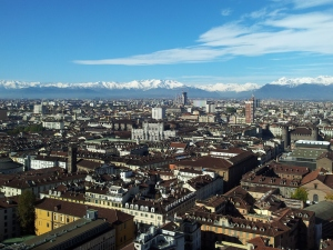 This image maybe over-represents how much sunshine and blue skies Torino really gets.