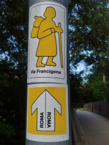 Trail sign! Rome seems and implausible goal.