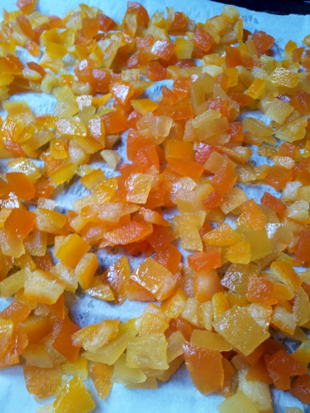 Home made candied peel