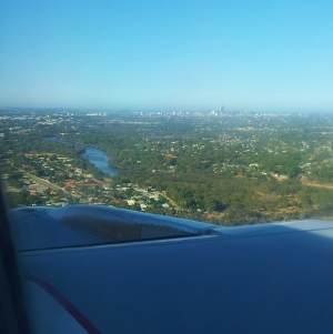 A hastily-taken plane window shot -- it gives the general impression at least.