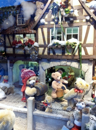 Christmas window display in Dusseldorf, Germany