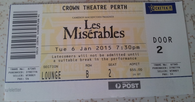 Les Miserables ticket