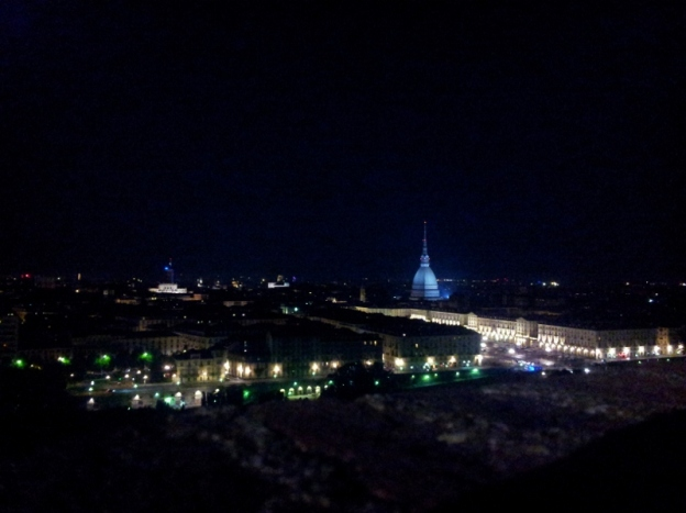 Turin by night from Monte dei Cappuccini