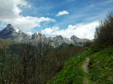 View of Monviso from Valle Varaita