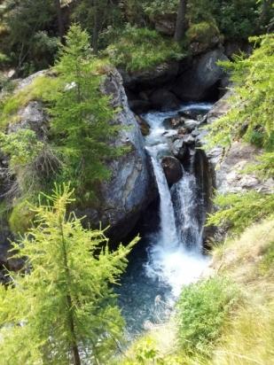 Waterfall near Villanova, Piedmont