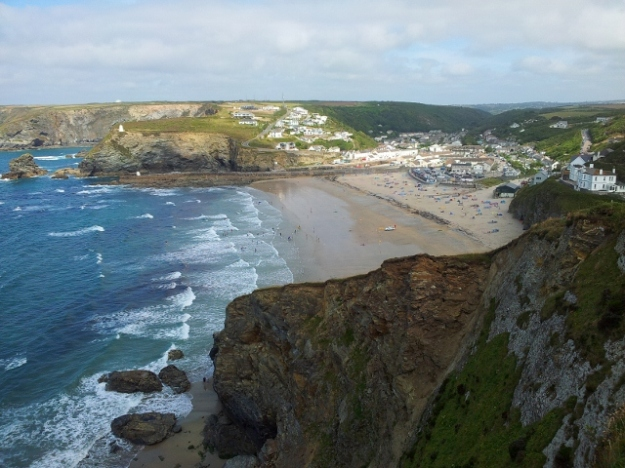 Looking down to Portreath, Cornwall
