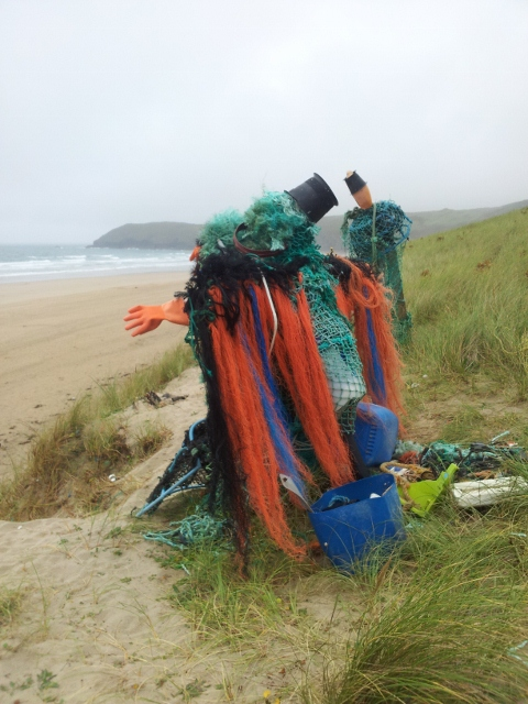 Art on Perran Beach, Cornwall