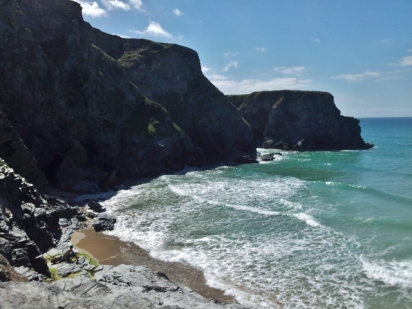 Cornish cliffs and the Atlantic Ocean