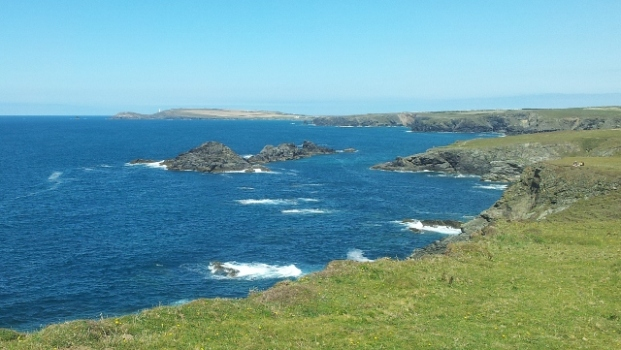 Looking towards Porth Mear, Cornwall