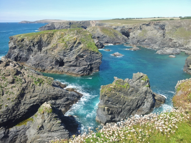 Cliffs and rocks on the Cornish coast