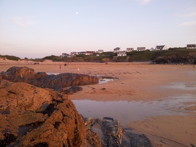 Beach at sunset, Treyarnon Bay