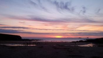 Sunset, Treyarnon Bay
