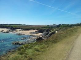Beach and farmland in Cornwall