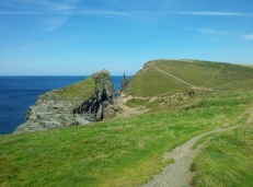 Paths and cliffs in Cornwall