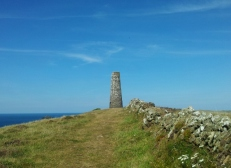 Day mark on the Cornish coast