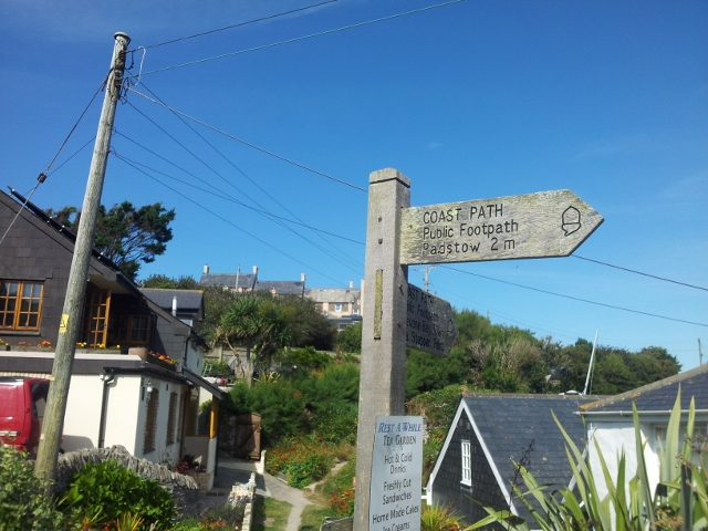 South West Coast Path sign, near Padstow, Cornwall