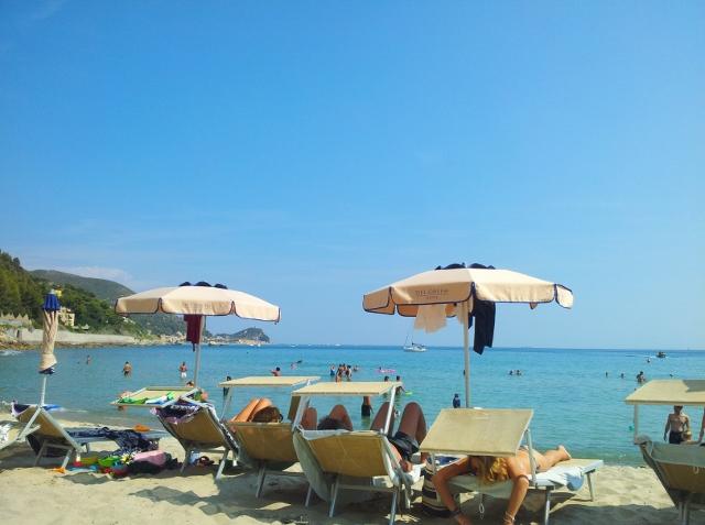 Beach near Finale Liguria