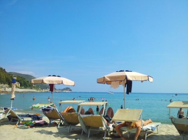 Beach near Finale Liguria